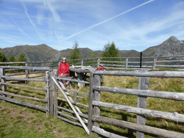Foto: Manfred Karl / Wandertour / Gipfelreigen rund um die Karteisalm / Gemütlicher Rastplatz beim Abstieg vom Schattleitenkopf / 08.12.2014 19:36:59