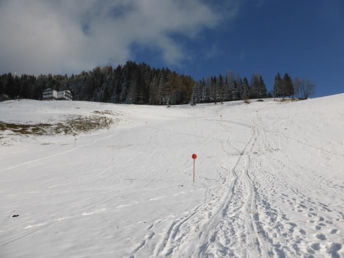 Foto: Manfred Karl / Skitour / Skiroute Hahnbaum von Sankt Johann / Schlussteil zum Hahnbaum / 24.01.2015 18:34:30
