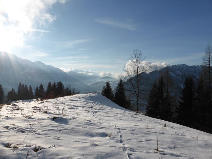 Foto: Manfred Karl / Skitour / Skiroute Hahnbaum von Sankt Johann / Sonniges Platzerl oberhalb des Skigebietes / 24.01.2015 18:34:13