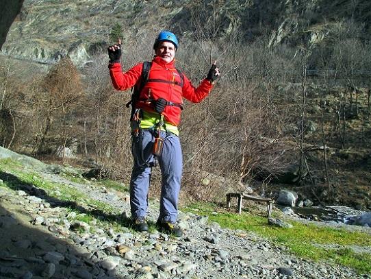 Foto: Andreas Koller / Klettersteigtour / Klettersteig Hoachwool Naturnser Sonnenberg (1200m) / 12.04.2015 18:10:21