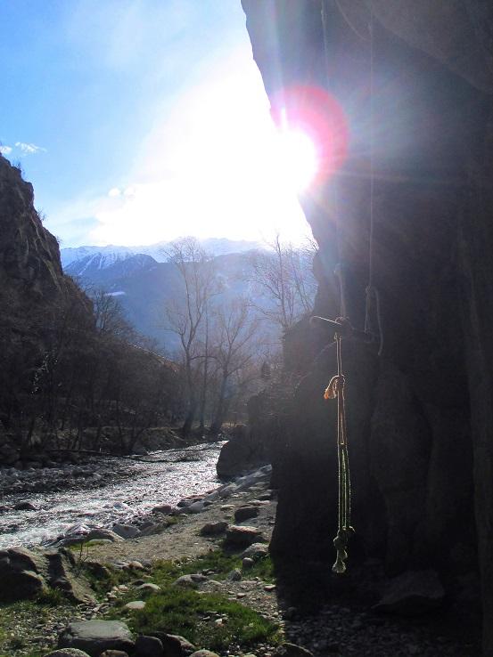 Foto: Andreas Koller / Klettersteigtour / Klettersteig Hoachwool Naturnser Sonnenberg (1200m) / Klettergarten / 12.04.2015 18:10:13