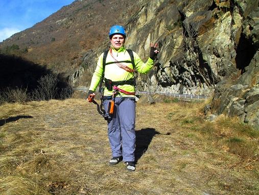 Foto: Andreas Koller / Klettersteigtour / Klettersteig Hoachwool Naturnser Sonnenberg (1200m) / 12.04.2015 18:07:18