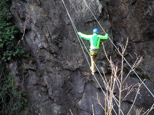 Foto: Andreas Koller / Klettersteigtour / Klettersteig Hoachwool Naturnser Sonnenberg (1200m) / 12.04.2015 18:07:08