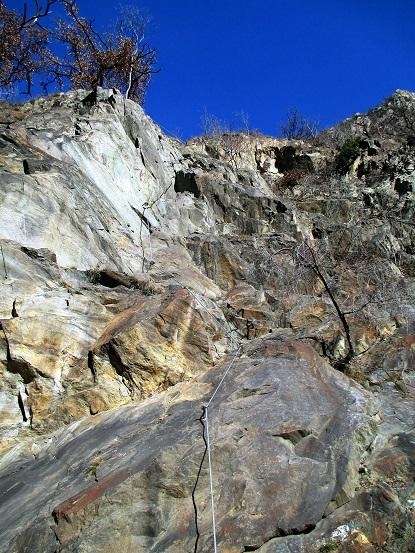 Foto: Andreas Koller / Klettersteigtour / Klettersteig Hoachwool Naturnser Sonnenberg (1200m) / 12.04.2015 18:05:48