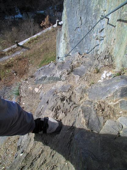 Foto: Andreas Koller / Klettersteigtour / Klettersteig Hoachwool Naturnser Sonnenberg (1200m) / 12.04.2015 18:05:27