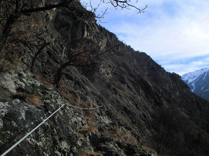 Foto: Andreas Koller / Klettersteigtour / Klettersteig Hoachwool Naturnser Sonnenberg (1200m) / 12.04.2015 18:04:41
