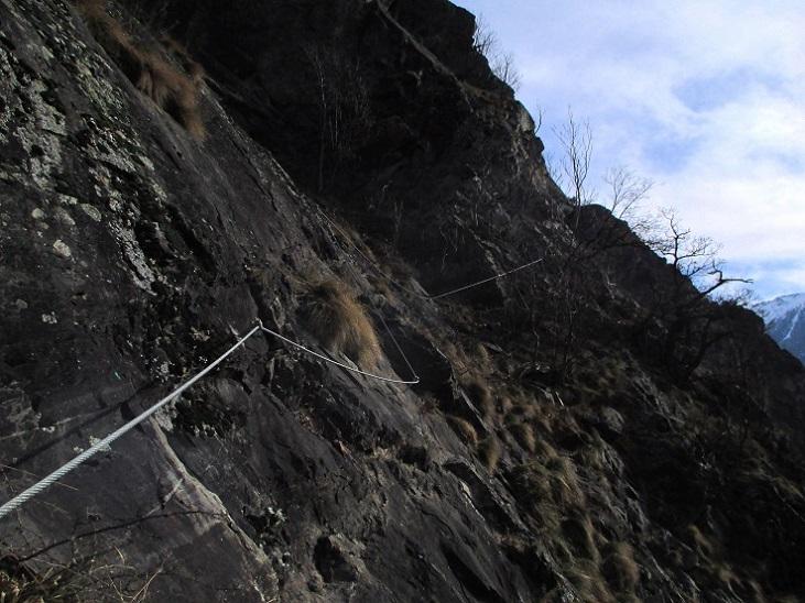 Foto: Andreas Koller / Klettersteigtour / Klettersteig Hoachwool Naturnser Sonnenberg (1200m) / 12.04.2015 18:04:25