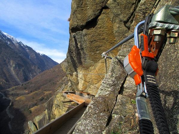 Foto: Andreas Koller / Klettersteigtour / Klettersteig Hoachwool Naturnser Sonnenberg (1200m) / 12.04.2015 18:02:56