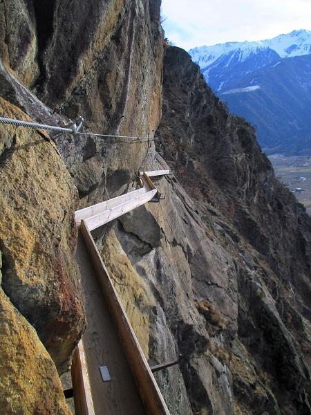 Foto: Andreas Koller / Klettersteigtour / Klettersteig Hoachwool Naturnser Sonnenberg (1200m) / 12.04.2015 18:02:45