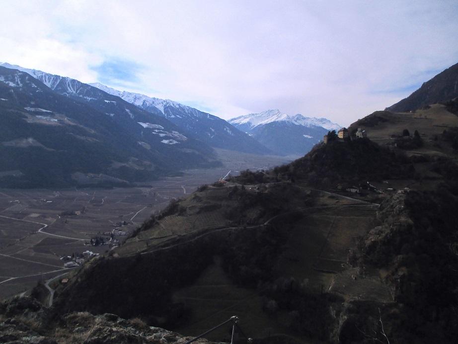 Foto: Andreas Koller / Klettersteigtour / Klettersteig Hoachwool Naturnser Sonnenberg (1200m) / 12.04.2015 17:59:53