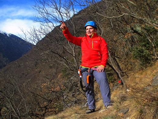 Foto: Andreas Koller / Klettersteigtour / Klettersteig Hoachwool Naturnser Sonnenberg (1200m) / 12.04.2015 17:59:42