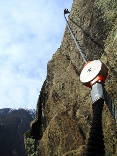 Foto: Andreas Koller / Klettersteigtour / Klettersteig Hoachwool Naturnser Sonnenberg (1200m) / 12.04.2015 17:58:38