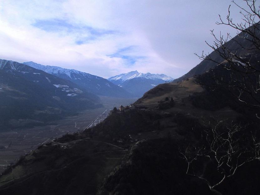 Foto: Andreas Koller / Klettersteigtour / Klettersteig Hoachwool Naturnser Sonnenberg (1200m) / 12.04.2015 17:56:30