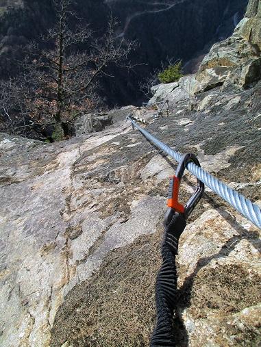 Foto: Andreas Koller / Klettersteigtour / Klettersteig Hoachwool Naturnser Sonnenberg (1200m) / 12.04.2015 17:56:05