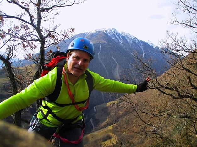 Foto: Andreas Koller / Klettersteigtour / Klettersteig Hoachwool Naturnser Sonnenberg (1200m) / 12.04.2015 17:55:18