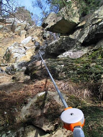 Foto: Andreas Koller / Klettersteigtour / Klettersteig Hoachwool Naturnser Sonnenberg (1200m) / 12.04.2015 17:54:32