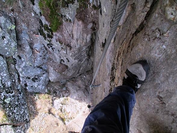 Foto: Andreas Koller / Klettersteigtour / Klettersteig Hoachwool Naturnser Sonnenberg (1200m) / Schlusspfeiler / 12.04.2015 17:53:48