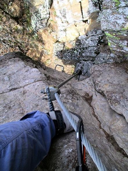 Foto: Andreas Koller / Klettersteigtour / Klettersteig Hoachwool Naturnser Sonnenberg (1200m) / 12.04.2015 17:53:32