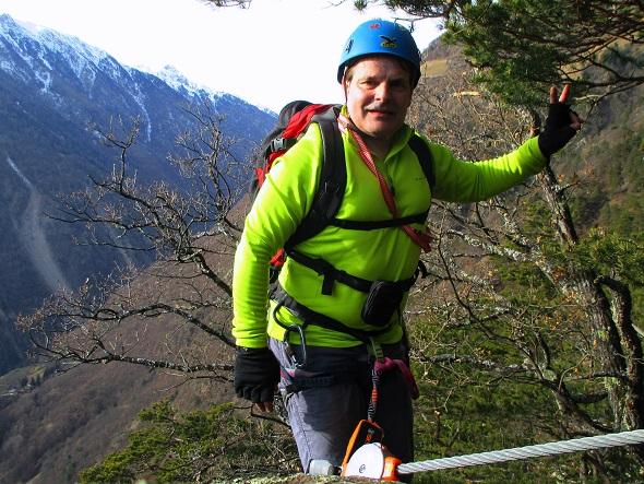 Foto: Andreas Koller / Klettersteigtour / Klettersteig Hoachwool Naturnser Sonnenberg (1200m) / 12.04.2015 17:53:23