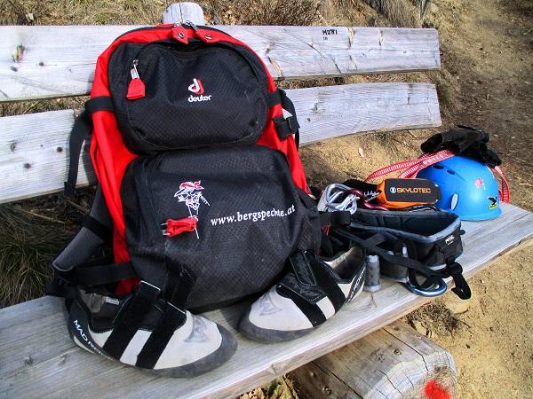 Foto: Andreas Koller / Klettersteigtour / Klettersteig Hoachwool Naturnser Sonnenberg (1200m) / 12.04.2015 17:51:59