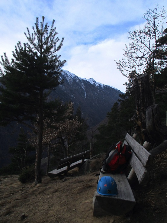 Foto: Andreas Koller / Klettersteigtour / Klettersteig Hoachwool Naturnser Sonnenberg (1200m) / 12.04.2015 17:50:05
