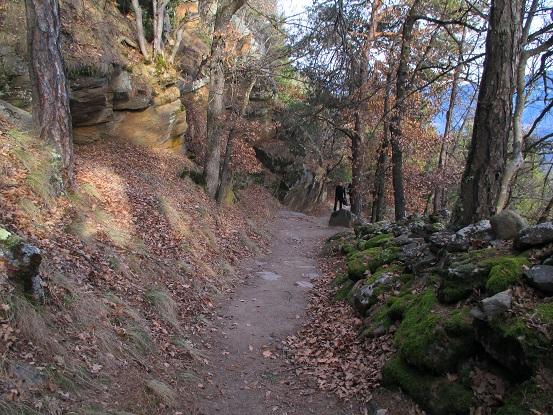 Foto: Andreas Koller / Klettersteigtour / Klettersteig Hoachwool Naturnser Sonnenberg (1200m) / 12.04.2015 17:47:44