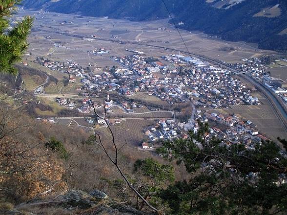 Foto: Andreas Koller / Klettersteigtour / Klettersteig Hoachwool Naturnser Sonnenberg (1200m) / Naturns / 12.04.2015 17:23:38