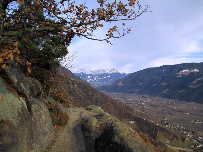 Foto: Andreas Koller / Klettersteigtour / Klettersteig Hoachwool Naturnser Sonnenberg (1200m) / 12.04.2015 17:17:30