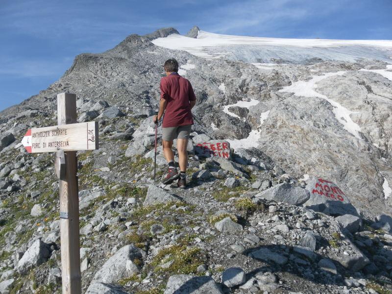 Foto: Wolfgang Lauschensky / Wander Tour / Magerstein 3273m aus dem Bachertal / Abzweig zum NO-Grat des Magersteins / 25.07.2015 23:07:02