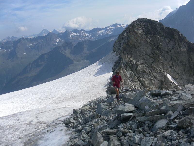 Foto: Wolfgang Lauschensky / Wander Tour / Magerstein 3273m aus dem Bachertal / Felsgrat oder Firn? / 25.07.2015 23:05:39