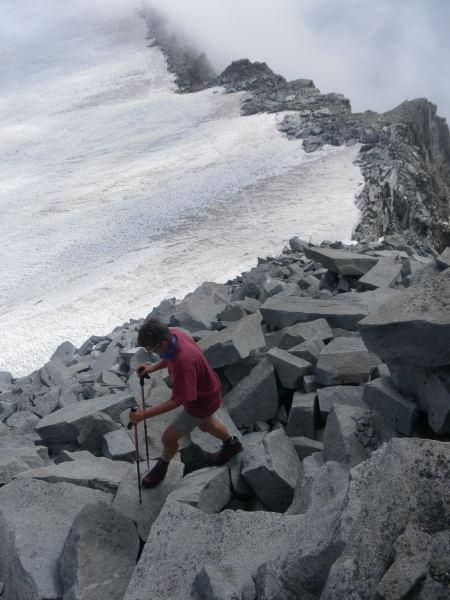 Foto: Wolfgang Lauschensky / Wander Tour / Magerstein 3273m aus dem Bachertal / im Gipfelhang / 25.07.2015 23:05:23