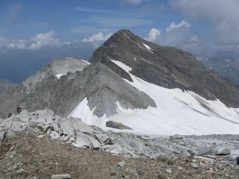 Foto: Wolfgang Lauschensky / Wander Tour / Magerstein 3273m aus dem Bachertal / Fernerköpfl und Schneebiger Nock / 25.07.2015 23:05:05