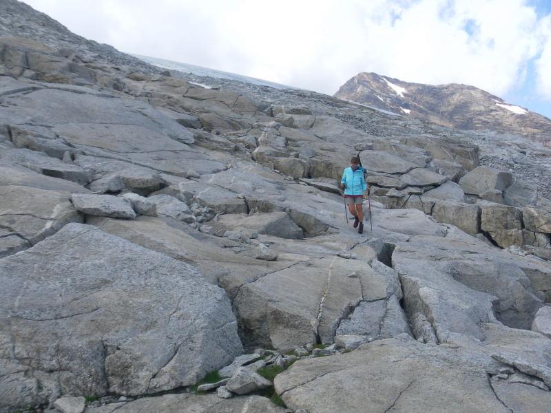 Foto: Wolfgang Lauschensky / Wander Tour / Magerstein 3273m aus dem Bachertal / griffige Gletscherschliffe / 25.07.2015 23:04:39