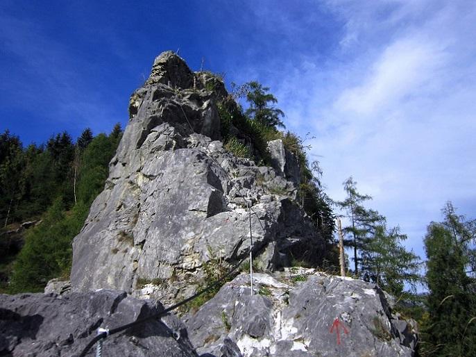 Klettersteig Burg : Seit heuer gibt es einen neuen klettersteig in ladis der