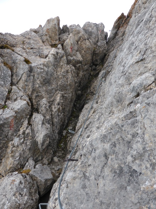 Foto: Manfred Karl / Klettersteigtour / Rauher Kamm am Pfoner Kreuzjöchl / 10.11.2015 21:37:30