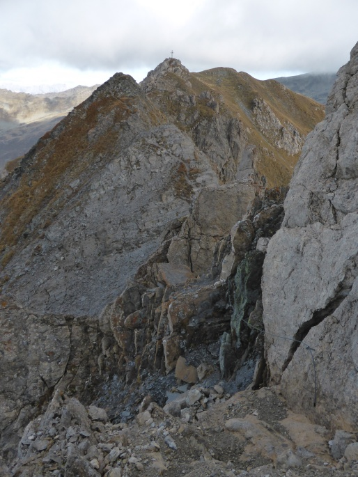 Foto: Manfred Karl / Klettersteigtour / Rauher Kamm am Pfoner Kreuzjöchl / 10.11.2015 21:36:46