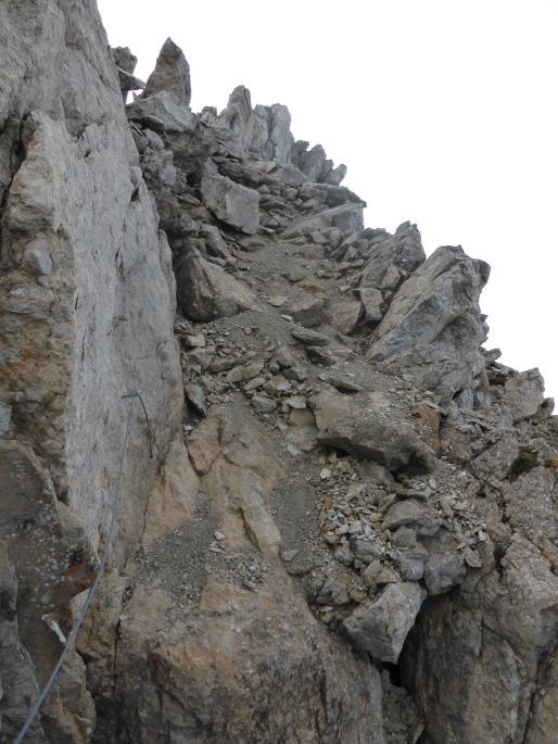 Foto: Manfred Karl / Klettersteigtour / Rauher Kamm am Pfoner Kreuzjöchl / 10.11.2015 21:36:39