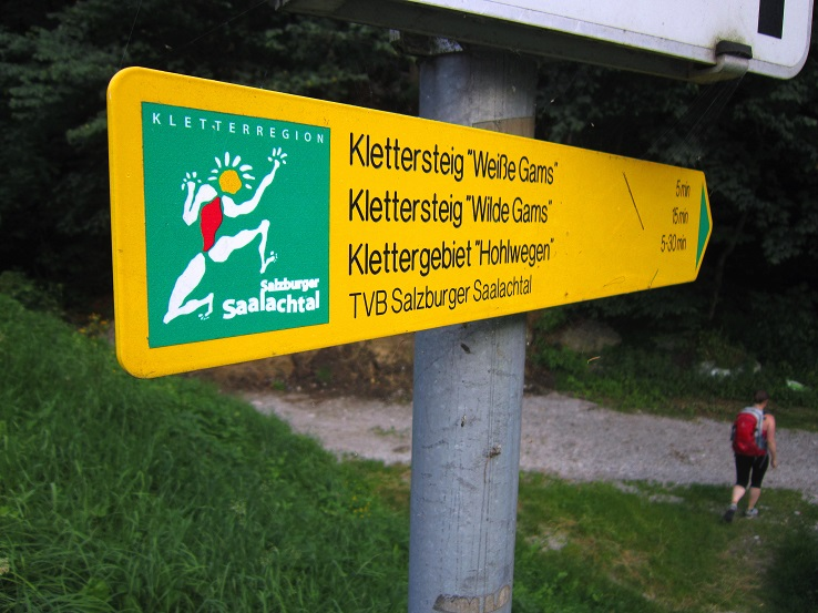 Klettersteig Weiße Gams : Weisse gams klettersteig salzburger land
