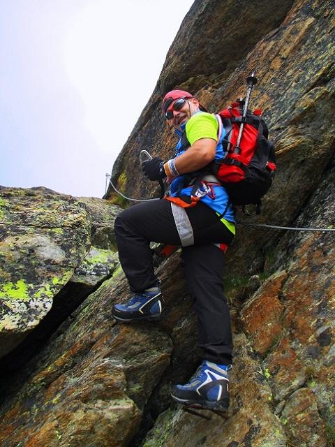 Foto: Andreas Koller / Klettersteigtour / Klettersteig Almagellerhorn (3327m) / Einstieg / 17.11.2015 01:52:50
