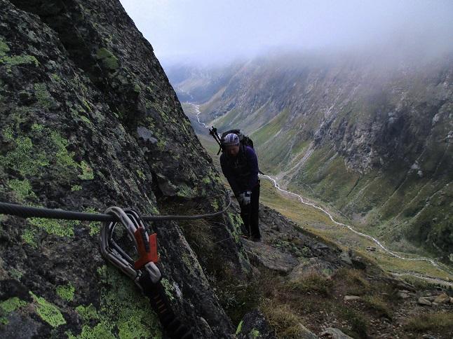 Foto: Andreas Koller / Klettersteigtour / Klettersteig Almagellerhorn (3327m) / 17.11.2015 01:51:56