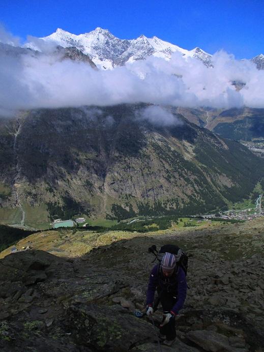 Foto: Andreas Koller / Klettersteigtour / Klettersteig Almagellerhorn (3327m) / 17.11.2015 01:51:43