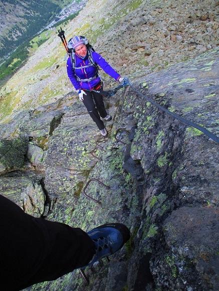 Foto: Andreas Koller / Klettersteigtour / Klettersteig Almagellerhorn (3327m) / 17.11.2015 01:51:35