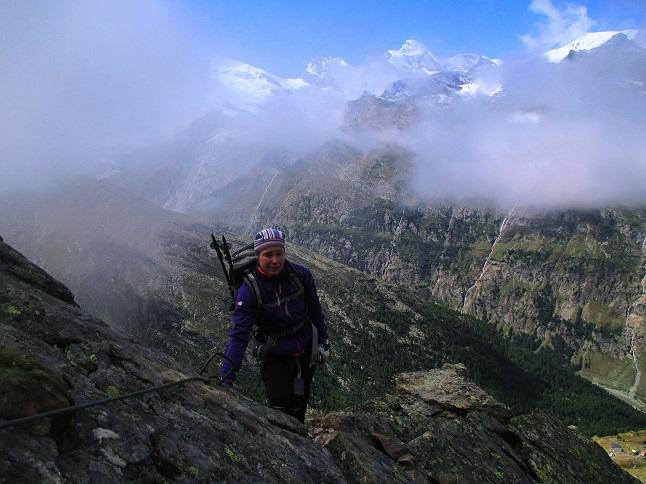 Foto: Andreas Koller / Klettersteigtour / Klettersteig Almagellerhorn (3327m) / 17.11.2015 01:50:07