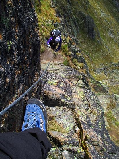 Foto: Andreas Koller / Klettersteigtour / Klettersteig Almagellerhorn (3327m) / 17.11.2015 01:49:37