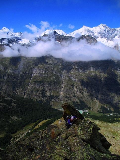 Foto: Andreas Koller / Klettersteigtour / Klettersteig Almagellerhorn (3327m) / 17.11.2015 01:49:27
