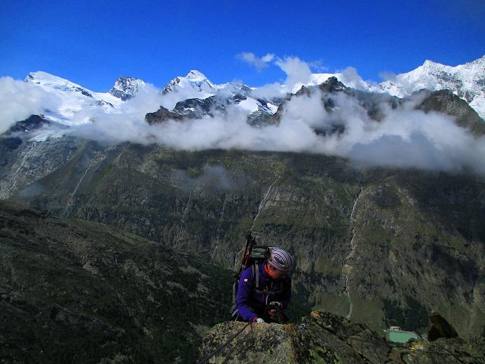 Foto: Andreas Koller / Klettersteigtour / Klettersteig Almagellerhorn (3327m) / 17.11.2015 01:49:17