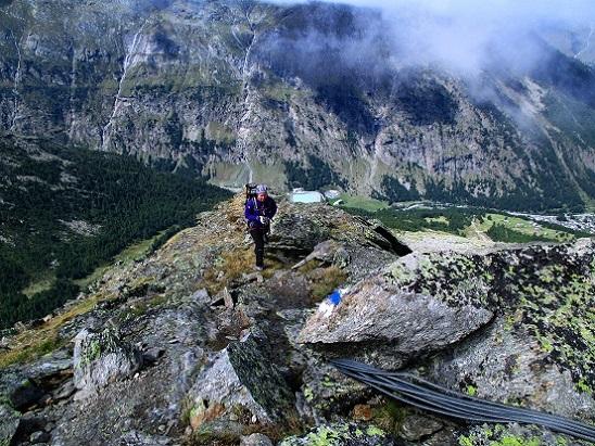 Foto: Andreas Koller / Klettersteigtour / Klettersteig Almagellerhorn (3327m) / Ausstieg aus dem Klettersteig / 17.11.2015 01:48:59
