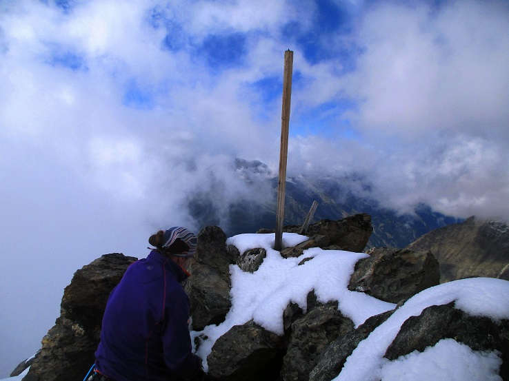 Foto: Andreas Koller / Klettersteigtour / Klettersteig Almagellerhorn (3327m) / 17.11.2015 01:45:28