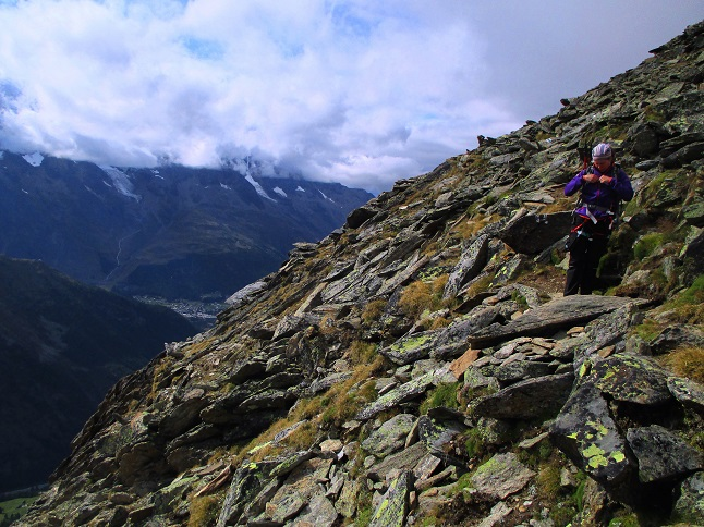 Foto: Andreas Koller / Klettersteigtour / Klettersteig Almagellerhorn (3327m) / 17.11.2015 01:42:11