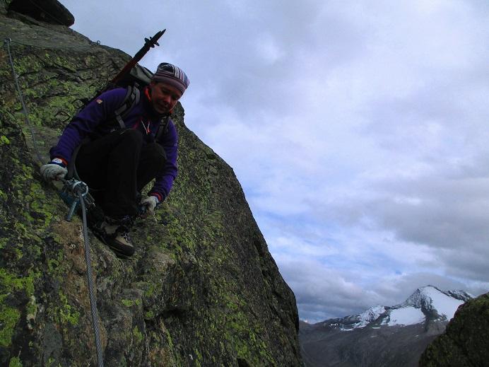 Foto: Andreas Koller / Klettersteigtour / Klettersteig Almagellerhorn (3327m) / 17.11.2015 01:38:28